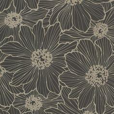 Black Floral Wallpaper, Black Wallpaper Iphone, Glitter Wallpaper, Geometric Wallpaper, Wallpaper Samples, Textured Wallpaper, Wallpaper Roll, Floral Wallpapers, Bella Vista