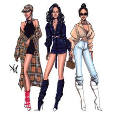 Loved this week's street style looks - StyleInspiration – Rihanna. Loved this week's street style looks - Dress Design Sketches, Fashion Design Sketchbook, Fashion Design Drawings, Sketch Design, Fashion Drawing Dresses, Fashion Illustration Dresses, Fashion Illustrations, Fashion Dresses, Mode Rihanna