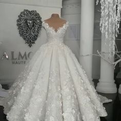 Designer wedding dresses with lace flowers white wedding dresses online - wedding dress Top Wedding Dresses, Wedding Dress Trends, Lace Mermaid Wedding Dress, Princess Wedding Dresses, Designer Wedding Dresses, Bridal Dresses, Wedding Gowns, Wedding Bride, Arab Wedding