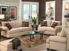 Choosing the Furniture for the Brown Living Room Ideas : Brown Living Room Ideas Contemporary