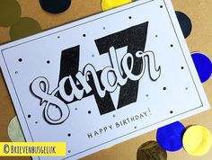 48 vind-ik-leuks, 1 reacties - Brievenbusgeluk (@brievenbusgeluk) op Instagram: '• Sander 47 • © . . #inopdracht #custommade #brievenbusgeluk #birthdaycard #happy #birthday…'