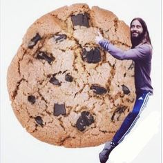 "Pin for Later: 19 Amazing Jared ""Huggin"" Leto Memes Jared Hugging a Cookie Source: Instagram user letostagram"