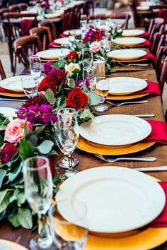 Farm style table floral garland