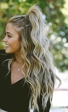You will get here 20 amazing pony hairstyles. It will certainly give you some idea to set your hair in this summer. Find the best Pony Hairstyles for you. Cute Hairstyles For Teens, Half Pony Hairstyles, Beautiful Hairstyles, Simple Hairstyles For Medium Hair, Long Blonde Hairstyles, Teen Girl Hairstyles, High Ponytail Hairstyles, Easy Summer Hairstyles, Hairstyles For Going Out