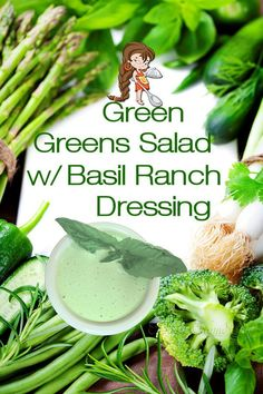 Green Greens Salad w/ Basil Ranch Dressing by Foodie Home Chef is the most versatile salad recipe you'll ever find & is perfect for any day of the week! It's also a healthy way to celebrate St… More