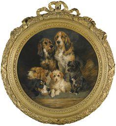 John Emms 1843 - 1912 BRITISH THE KENNEL CLUB: SALADIN, WITCHCRAFT, CHAMPION, STATELY, LADYE, DUSTY; OLD FAITHFULS: SALLY, GRAFF..., GORGIUS, ROCKWOOD, BELL...