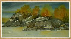 Akvarell- høst malt av Toril Malmo