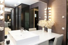make up corner Toilet, Sweet Home, Minimalist, Room Decor, Shower, Mirror, Interior, House, Inspiration