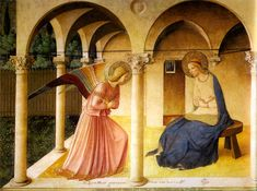 """Fra Angelico's """"Annunciation"""" at San Marco in Florence. I saw it in person & no photos do it justice."""