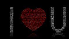 I Love U HD 1920x1080 Wallpapers