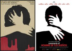 "moviepostertwins: "" Polish poster by Bronislaw Zelek for FAR FROM THE MADDING CROWD (John Schlesinger, UK, 1967) and the Spanish poster for YOU WILL MEET A TALL DARK STRANGER (Woody Allen, USA, 2010). """