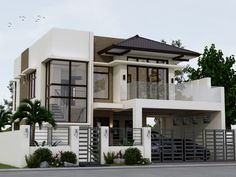 Valerio residence: asian by angeles designs , asian Two Story House Design, 2 Storey House Design, Best Modern House Design, Modern Exterior House Designs, Modern Minimalist House, Duplex House Design, Dream House Exterior, Simple House Design, House Outside Design