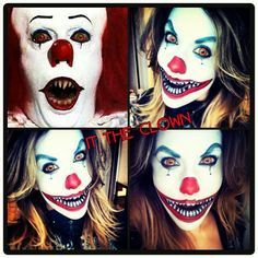 scary halloween clown makeup for girls - Google Search