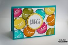 Bruno Bertucci | Stampin Up | stampinbruno | Fresh Fruit | Perfectly Wrapped | KUDOS | Tennis Ball  | Handmade Card