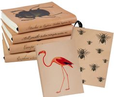 Printed leather journals