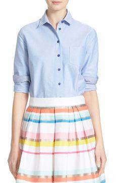 KATE SPADE NEW YORK Cotton Oxford Shirt. #katespadenewyork #cloth #