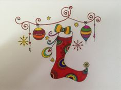 """Christmas """"Garland"""" :: Do in blk ... On mugs, cups, plates ..."""