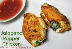 Mrs Paleo Mommy: Jalapeno Popper Chicken with Bronco Berry Dipping Sauce