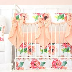 Crib bows, all day!  LAST CALL to enter to win a 2-piece crib bedding set from @caden_lane_baby  Link in profile to enter to win!