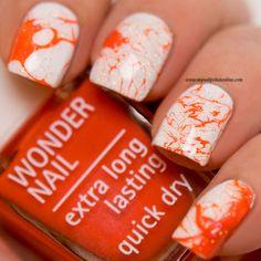 31DC2015 - Day2 Orange Nails - http://www.mynailpolishonline.com/2015/09/nail-art-2/31dc2015-day2-orange-nails/