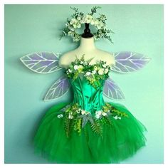 RESERFVED FOR NATALIE - express ship Fairy Costume - adult size 10 to 12 - corset top with faerie skirt wings and headpiece Cool Costumes, Adult Costumes, Costumes For Women, Fairy Costume Adult, Green Costumes, Fairy Halloween Costumes, Cosplay Costume, Costume Dress, Sleeping Beauty Costume