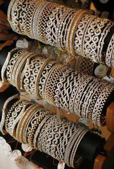 Beautiful elegant diamond gold based bangles and bracelet