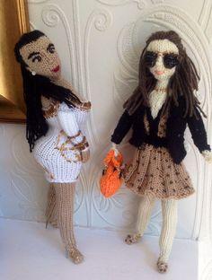Fun! @K D Eustaquio Kardashian meets Pippa Middleton (@Philippa Norridge Taylor Middleton) by The @KnittingWitchUK #knit #knitting