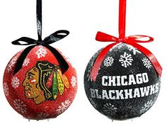 Chicago Blackhawks LED Ornament Set * To view further for this item, visit the image link.