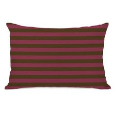 One Bella Casa Plain Stripe Throw Pillow