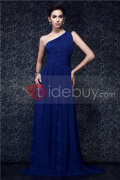 Fast Shipping One shoulder Ruched Bodice and A line Skirt New Taline's Prom Dress : Tidebuy.com