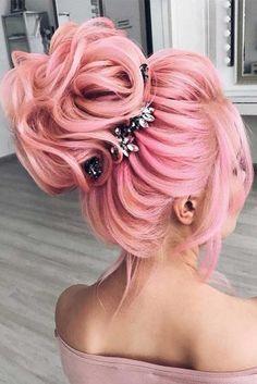46 Beautiful Pink Hair Color Ideas To Makes You Looks Stunning genial 46 schöne rosa Haarfarbe Ideen Pretty Hair Color, Hair Color Pink, Hair Dye Colors, Pink Hair, Blue Hair, Pastel Hair, Pastel Pink, Great Hair, Pretty Hairstyles