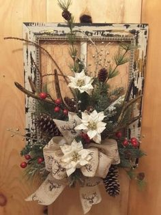 Fantastic Christmas deco detail are available on our web pages. Check it out and you wont be sorry you did. Christmas Wreaths To Make, Holiday Wreaths, Rustic Christmas, Christmas Projects, Christmas Fun, Christmas Decorations, Christmas Ornaments, Winter Wreaths, Christmas Quotes