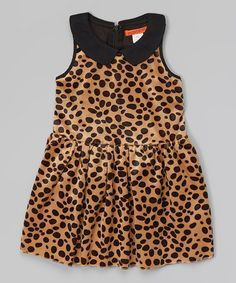 Love this Beige Cheetah Dress - Toddler & Girls on #zulily! #zulilyfinds
