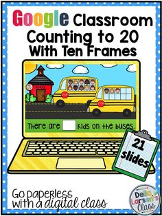 Let's Go Google! Are you ready to try 1:1 for kindergarten and first grade? Would you like to try Google Classroom? This resource uses ten frames for counting up to 20. Build number sense and increase math skills by using a digital device. A perfect addition to your math centers. Embrace technology into your kindergarten classroom in a meaningful way. This is a great way to assess counting skills.