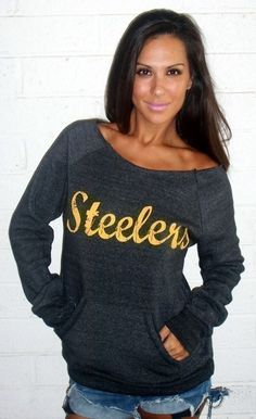 YOUR TEAM Off the Shoulder Girly Sweatshirt by Firedaughter. Just ordered this in Jets colors! Can't wait!