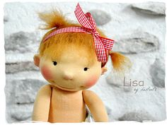Lisa, 16-inch waldorf baby in the making by LesPouPz Handmde Dolls, available soon