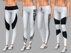 4 patterns with each pattern reversed making 8 styles. Found in TSR Category 'Sims 4 Female Athletic' Sims 4 Cc Skin, Black And White Leggings, Kawaii Dress, The Sims 4 Download, The Sims4, Sims 4 Custom Content, Sweater Outfits, Kids Outfits, Pants For Women