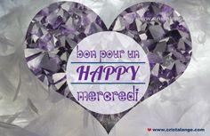 Bon pour un happy mercredi! Sur fond d'améthyste by Cristalange