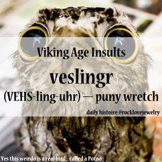 Viking Age Insults More @Peter Thomas Thomas Doherty.com/rocklovefanpage