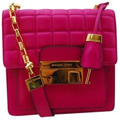 Pre-owned Michael Kors Collection Quilted M48-54 Bin 1 Pink Cross Body... (€180) ❤ liked on Polyvore featuring bags, handbags, shoulder bags, pink, leather cross body purse, leather crossbody handbags, purple leather shoulder bag, crossbody handbags and leather handbags