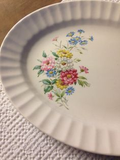 Floral China Platter Edwin Knowles Semi by LittleDixieVintage