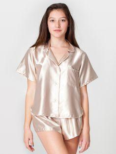 Red Three-Piece Satin Pajama Set Nightie @ Frederick's Of ...