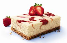 i love me some cheesecake! Cheescake Recipe, Easy Cheesecake Recipes, Cheesecake Cake, Sweets Recipes, No Bake Desserts, Simple Cheesecake, Healthy Recipes, Strawberry Swirl Cheesecake, How Sweet Eats