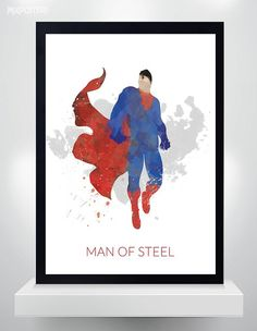 Hey, I found this really awesome Etsy listing at https://www.etsy.com/listing/223439917/superman-poster-watercolor-print