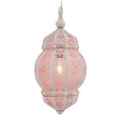 Hanging Lantern - Moroccan Lantern - Hanging Lanterns - Boho Decor - Rani White with Orange - Moroccan Decor Moroccan Floor Lamp, Moroccan Lighting, Moroccan Lanterns, Moroccan Decor, Ceiling Hooks, Ceiling Lights, Hanging Lanterns, Floor Lanterns, Rustic Lamps