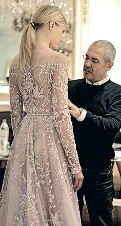 Elie Saab for his lovely creations.