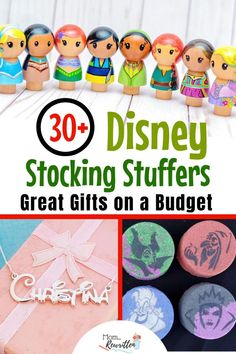 These budget-friendly Disney stocking stuffers add magic to the holidays without breaking the bank! Christmas stocking ideas for kids of all ages, babies to teens (and maybe a few things Mom will keep for herself! Disney Stockings, Disney Christmas Stockings, Disney Christmas Shirts, Stocking Stuffers For Kids, Stocking Ideas, Disney Crafts, Disney Diy, Disney Food, Disney Stuff