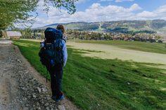 Droga pod Reglami - łatwy szlak na wózek, rower i spacer z psem Polish Mountains, Kanken Backpack