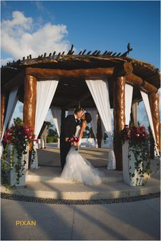 A stunning scene from this colorful destination wedding at Secrets Maroma Beach Riviera Cancun. Cancun Wedding, Wedding Venues, Wedding Ideas, Destination Wedding Inspiration, Resort Spa, Beach Themes, The Secret, Themed Weddings, Vacations