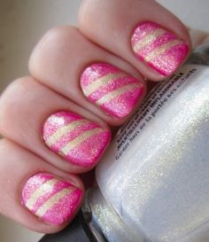 32 Amazing DIY Nail Art Ideas Using Scotch Tape- everyone incapavle of doing nail art should check this out